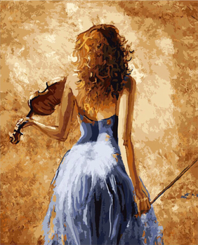 New Frameless Picture Painting By Numbers Wall Art DIY Digital Oil Painting On Canvas Picture-piano Girl Home Decor G452