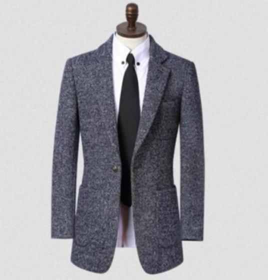 Grey black brown stand collar 2015 new arrival mens blazer slim fit winter wool coat men suit jacket outerwear plus size S – 9XL