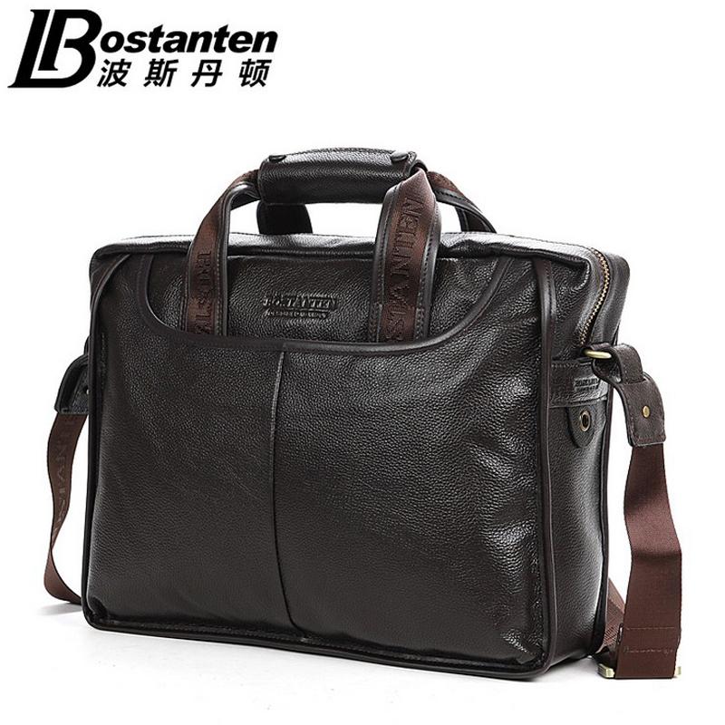 BOSTANTEN Genuine Leather Briefcases Men Casual Cowhide Shoulder Bag Brown Bostanten Business Messenger Bag Vintage Briefcase<br><br>Aliexpress