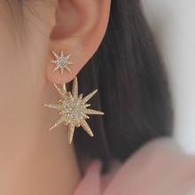 New Hot 1 PCS Gold plated Star Crystal Rhinestone Dangle Earring Drop Earrings Earrings For Women Accessories Best Gift