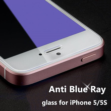 5/5S Anti Blue Ray Proof Tempered Glass for iPhone 5 S 5S SE Screen Protector Blue Light Resistant Eyes Protective Film