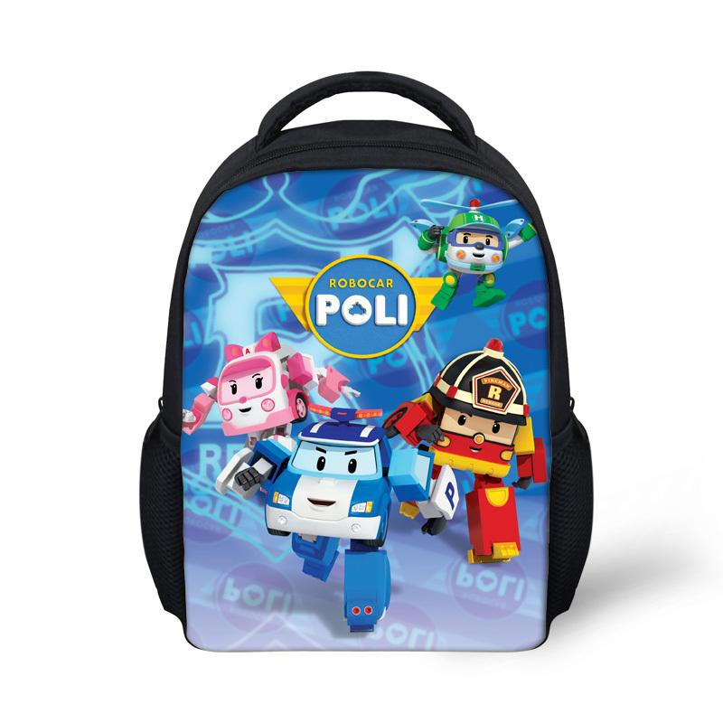 Mini Cartoon Robocar Poli Bag Children School Bags Kids Kindergarten Schoolbag for Boys Girls Small Backpack Mochila Infantil(China (Mainland))