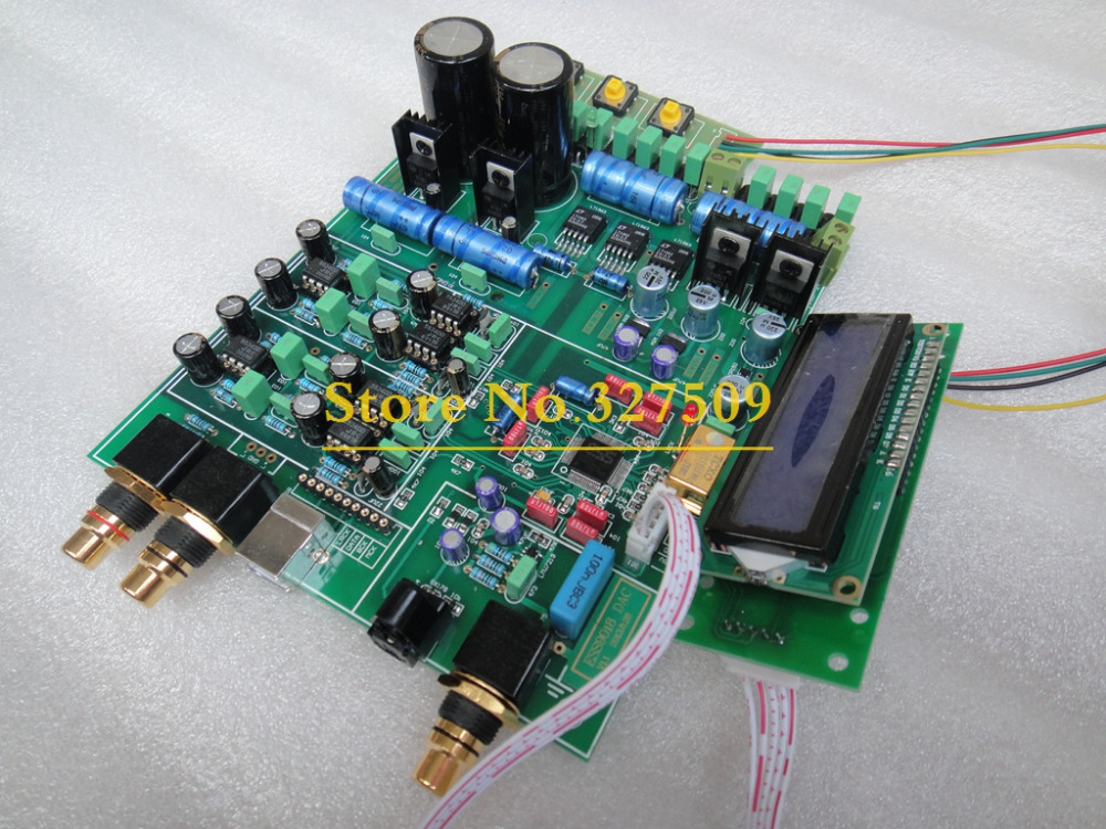 High quality ES9018 assembled Board DAC 192K with TCXO 0.1PPM best price & USB input need buy XMOS modual(China (Mainland))