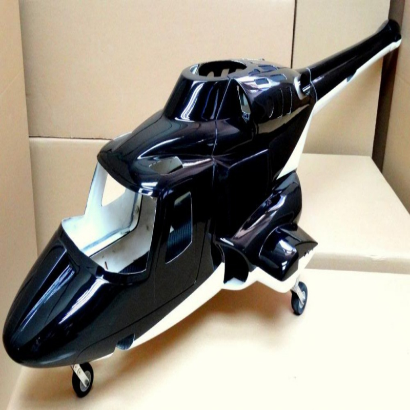 Airwolf 600 size Airwolf Scale Fuselage quadcopter Bell 222 W/Retracts&Parts for 70 scale VS 700 fuselage rc helicopter 1.1b(China (Mainland))