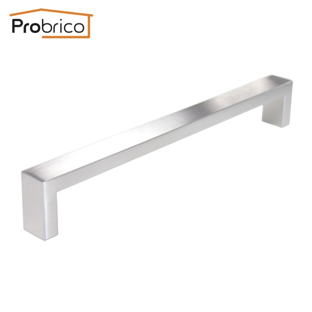 Probrico Wholesale Stainless Steel Width 10mm*20mm Hole Spacing 224mm Kitchen Cabinet Knob Furniture Drawer Handle PDDJ30HSS224(China (Mainland))