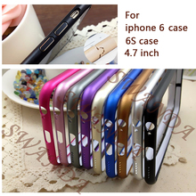 Protect Cases Ultra thin Metal Aluminum Frame Bumper Case For Apple iphone 6 4.7″ Slim Shockproof Cell Phone Mobile