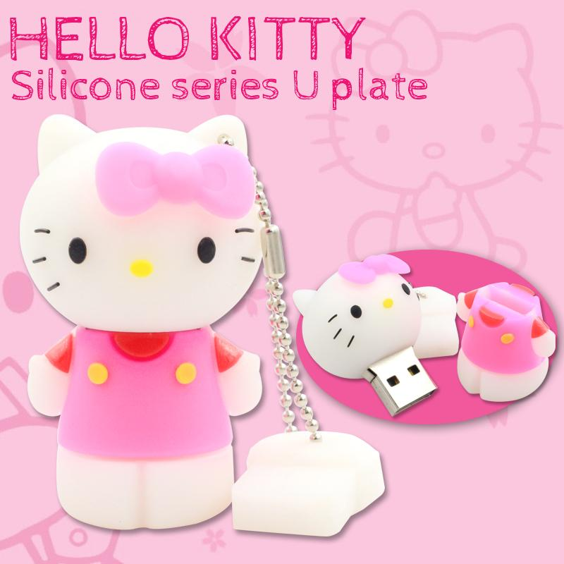 USB Flash Drive Hello Kitty Pen Drive Cartoon USB Stick 4GB 8GB 16GB 32GB Pendrive Memory Stick USB 2.0 Free Shipping(China (Mainland))