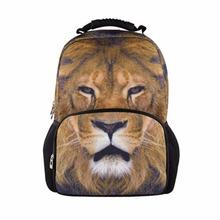 Buy backpacks back school animal felt back pack boys Lion school bags children girls cool bookbag mochila college for $29.99 in AliExpress store