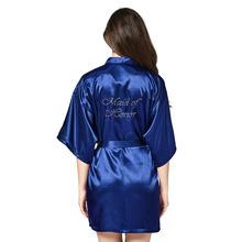 Bridesmaid Robe women bathrobe robes Kimono Pajamas gowns women home robes clothes Silk white dress Terry bathrobe sleepwear(China)