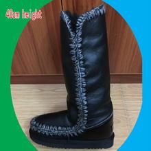 Envío libre 40 cm mano para ayudar Gaotong botas de nieve de las mujeres botas de piel botas de invierno zapatos nuevos de fábrica directamente venta precioso(China (Mainland))
