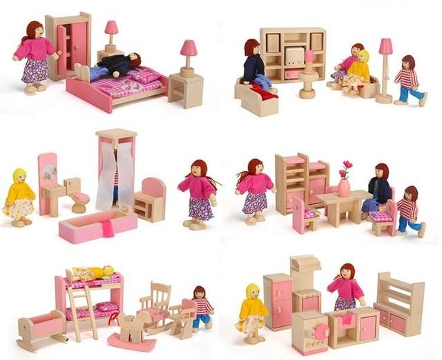 En Bois Rose Miniature Dollhouse Meubles Enfants Jouets