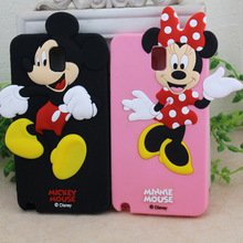 10PCS/Lot Cute Minnie Mickey Mouse  Soft Silicone Back Case For Samsung Galaxy Note 3 III N9000