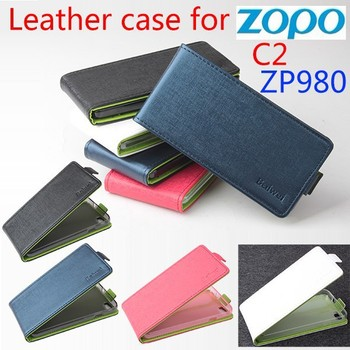 New Products Up Down Open Pu Leather case zopo c2 zp980 zp 980 protective covers mobile phone cases  Free shipping