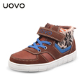 2016 UOVO knitting fabric kids shoes children sport shoes autumn winter flat sneakers for girls boys