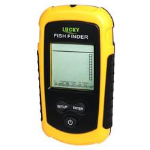 Free Shipping! Lucky FF1108-1 Portable Fish Finder Depth Sonar Sounder Alarm Waterproof Fishfinder 100M 328Feet sonar fish sonar(China (Mainland))