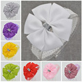22 color new Baby hair bow flower Headband bowknot ribbon newborn toddler Hair Band Handmade DIY