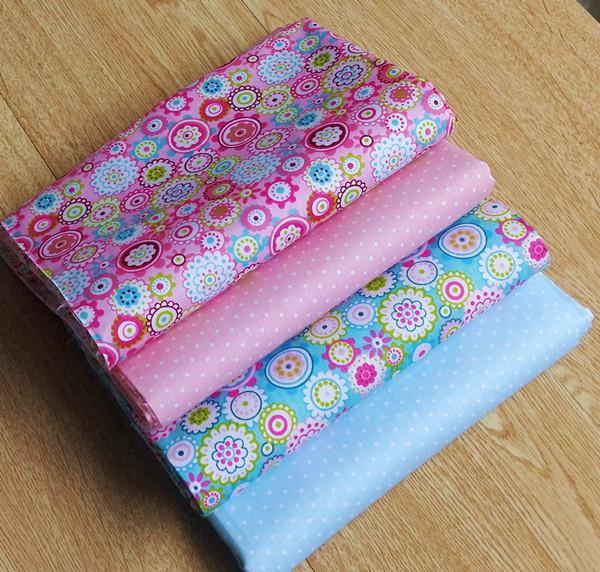4pcs 40cm*50cm Patchwork polka dot tecidos 100% cotton Twill kids neadend cloth fabric quilting tissue diy doll cloth fabric(China (Mainland))