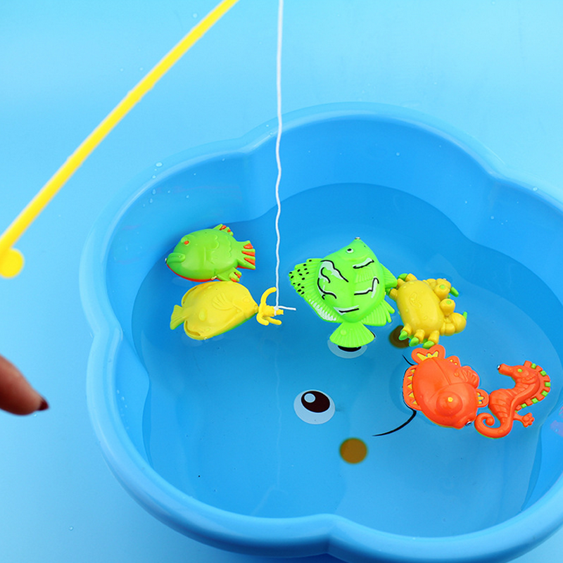 1 set educational magnetic fishing toys for children On fishing toys for toddlers