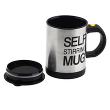 1Pcs Automatic Plain Mixing coffee Tea cup Lazy Self strring mug button Pressing YKS
