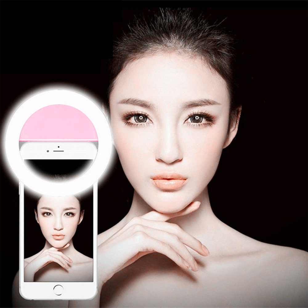 Smart Ring Selfie Light of 4 types of Lighting Phone Led Light for iPhone 6s Plus/se iphone 7 for Samsung Android Smartphones