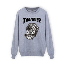 New Arrival  3xl Cotton Thrasher Sweatshirt Men Autumn Winter Hip Hop in Mens Hoodies and Sweatshirts XXS(China (Mainland))