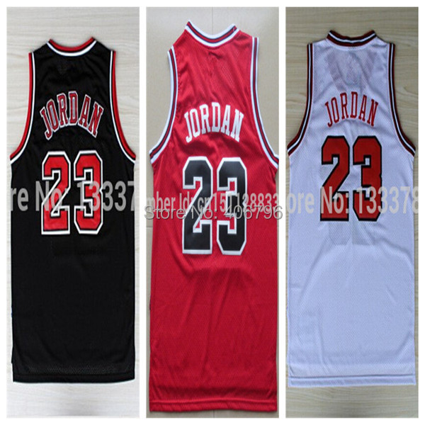 #23 Michael Jordan Brand New Jerseys Classical Black/Red/White Basketball Jersey(China (Mainland))