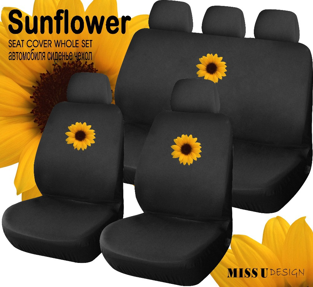 buy sunflower pretty printing universal car seat cover auto interior. Black Bedroom Furniture Sets. Home Design Ideas