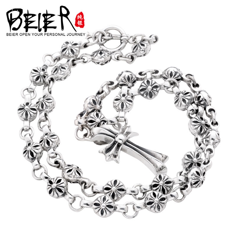 Super Quality 925S Sterling Silver Mens Match Necklace Chain For Man Woman Personality Vintage Jewelry BR925XL020<br><br>Aliexpress