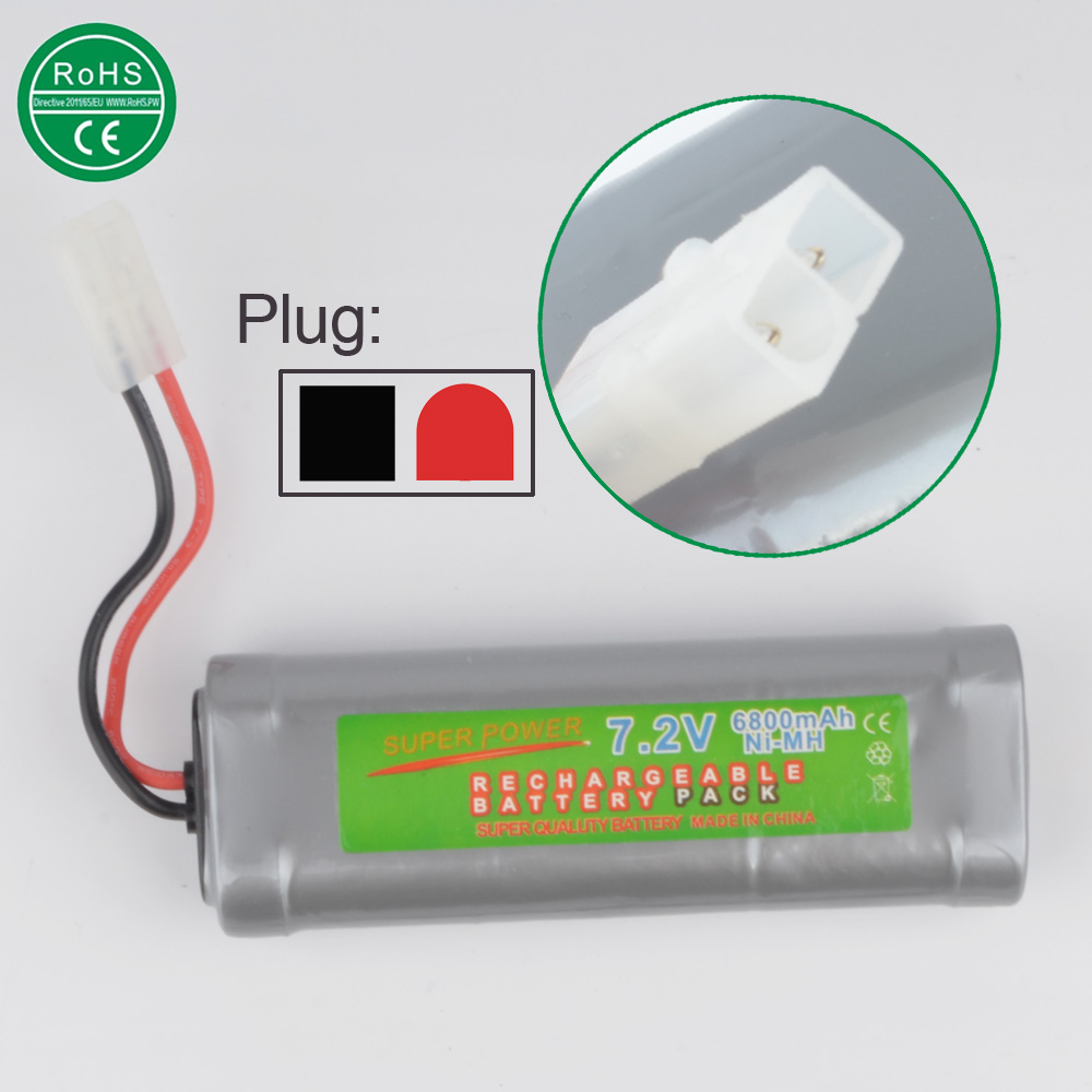 7.2V Battery 6800mah NiMH Batteries Pack For RC Car Truck Buggy Boat Tank Ni-Mh Baterias gray supper power(China (Mainland))
