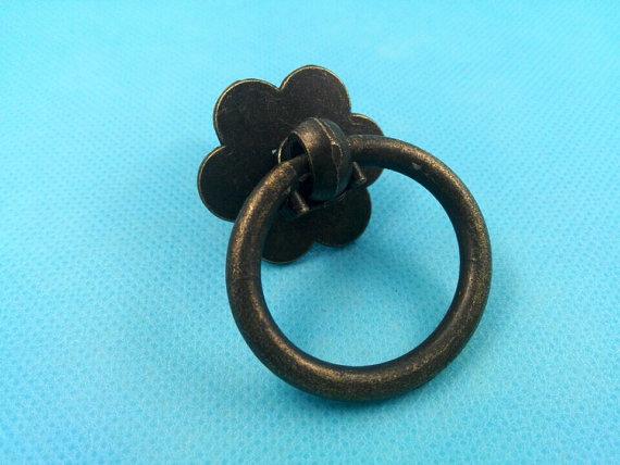 Dresser Knobs Pull Drawer Pulls Knob Handles Drop Ring Antique Bronze Black / Vintage Style Kitchen Cabinet Handle Pull Knob<br><br>Aliexpress