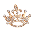 Hot Selling Korean Fashion Crown Brooches For Women Gold Plated Rhinestone Brooch broches Jewelry Fashion Free