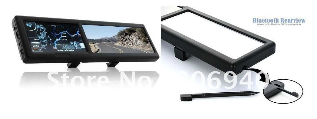 .3 Inch Bluetooth Rearview Mirror with Built-in GPS Navigation(China (Mainland))
