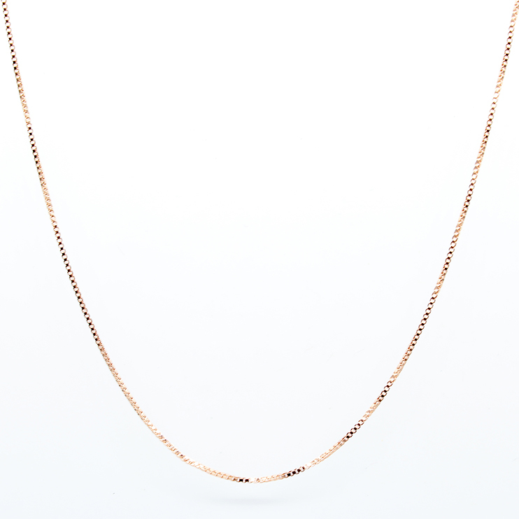2015 Women Rose Gold Necklace Chain 925 Sterling Silver Boxes 45cm 18 inches Female Fashion Jewelry collares mujer - & Atom 's Boutique store