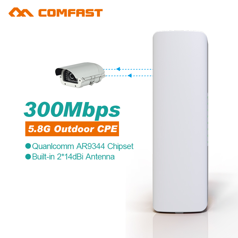 5.8G 300Mbps Outdoor CPE WiFi Bridge Wireless Router Repeater 2*14dBi Wi fi Antenna POE Wireless CPE Router Long distance WI FI(China (Mainland))