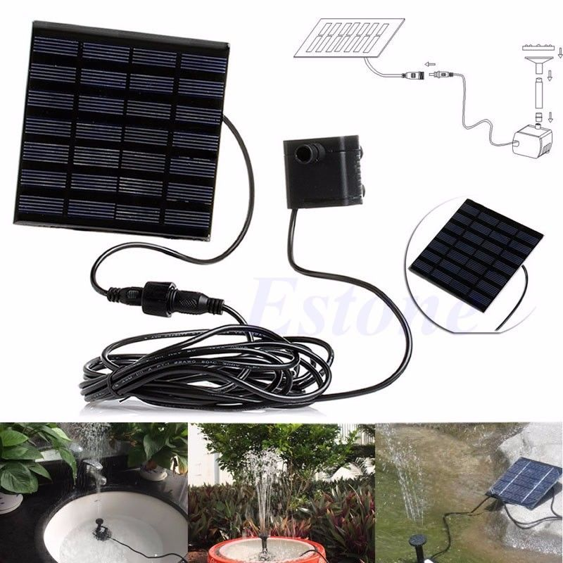 Solar Power Water Pump Panel Kit Garden Fountain Pool Pond Submersible Watering-Y102(China (Mainland))