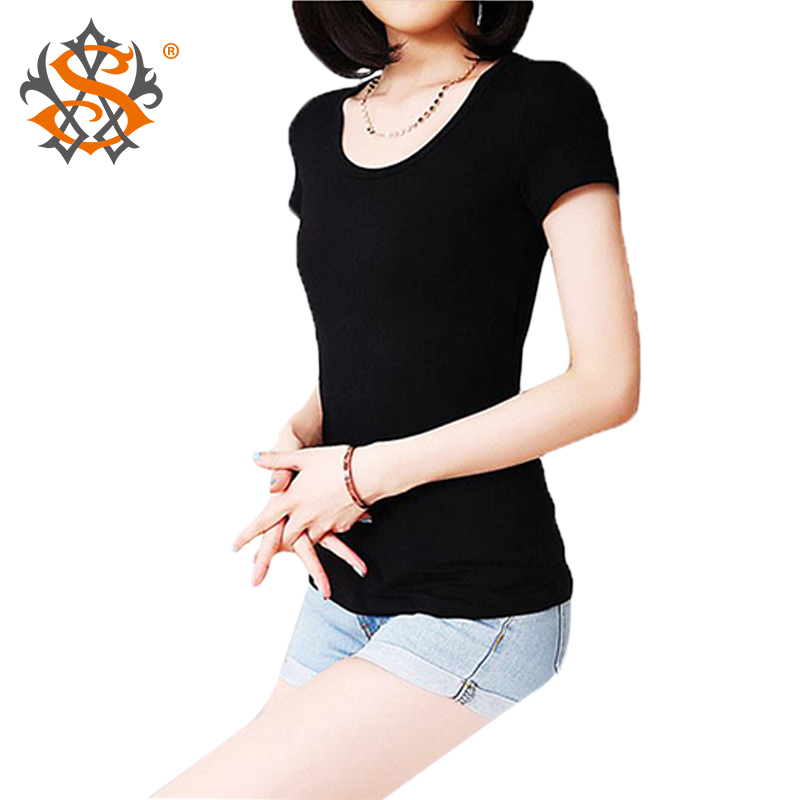 2014 new slim women dress lady T shirtt basic short-sleeved shirt solid color plus size ladies fashion top - hydiber showing Store store