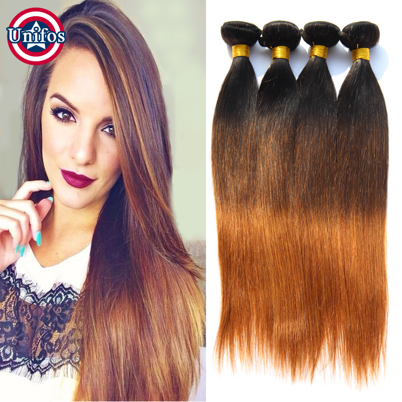 Ombre Peruvian Virgin Hair Straight 6Pcs Lot Three Tone Ombre Peruvian Hair Bundles Human Hair Weave Peruvian Ombre  Virgin Hair