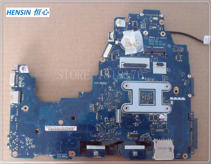 FOR Toshiba FOR Satellite C660 C660D MOTHERBOARD LA-6843P INTEGRATED GRAPHICS 100% Work OK<br><br>Aliexpress