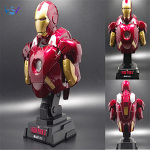 Buy Iron Man MK7 Bust Statue (LIFE SIZE) 1:4 Statue Avengers Action Figure Collectible Model Toys LED 23 cm AC47 for $43.19 in AliExpress store