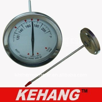 Double-end pointer meat thermometer with SS304 clip(China (Mainland))