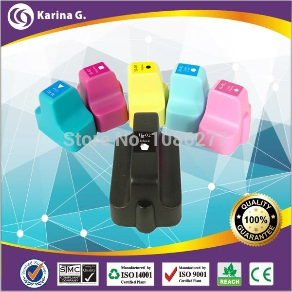 Картридж с чернилами Karina.G 6PK HP/02XL HP02 02XL HP Photosmart 3210 3110 3310 8230 c6240 c6250 c6270 c6280 C7280 for HP 02XL for hp 363 177 02 801 dye ink for hp photosmart c5180 c6180 c6280 c7160 c7180 c7280 c8180 d7145 3110 3210 3310 8230