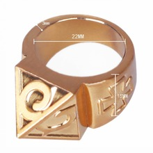 Self defense Ring Shocker Weapons Product Survival Ring Tool Pocket Women Self Defense Ring With Necklace