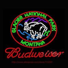 Neon Sign Budweiser Glacier National Park Montana Neon Bulbs Handcrafted Store Display Neon Tubes Personalized Free Design 31x24(China (Mainland))