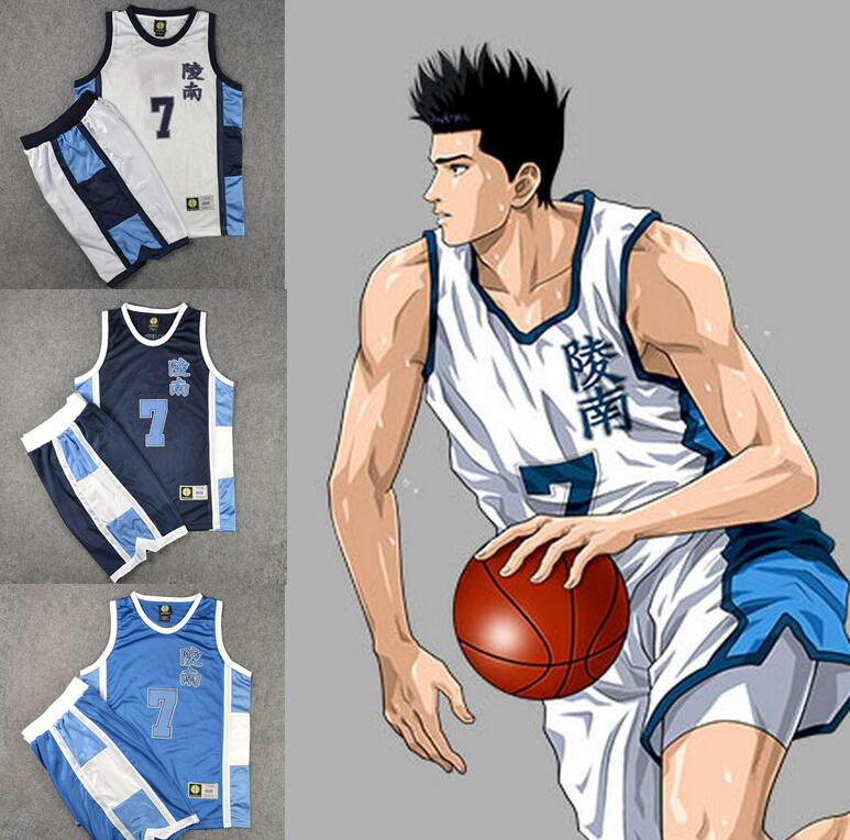Anime SLAM DUNK Ryonan Basketball Jersey Cosplay Unmber custom made(China (Mainland))