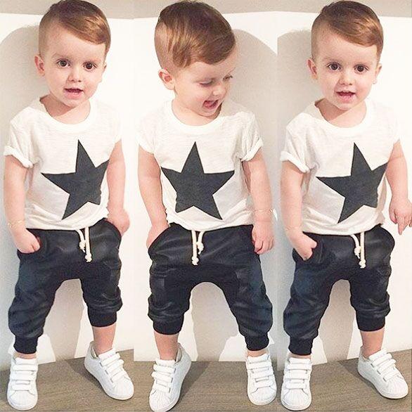 2016 summer style baby boy clothes fashion cotton baby girl clothing set casual short sleeved printed t-shirt+pants 2pcs sets(China (Mainland))