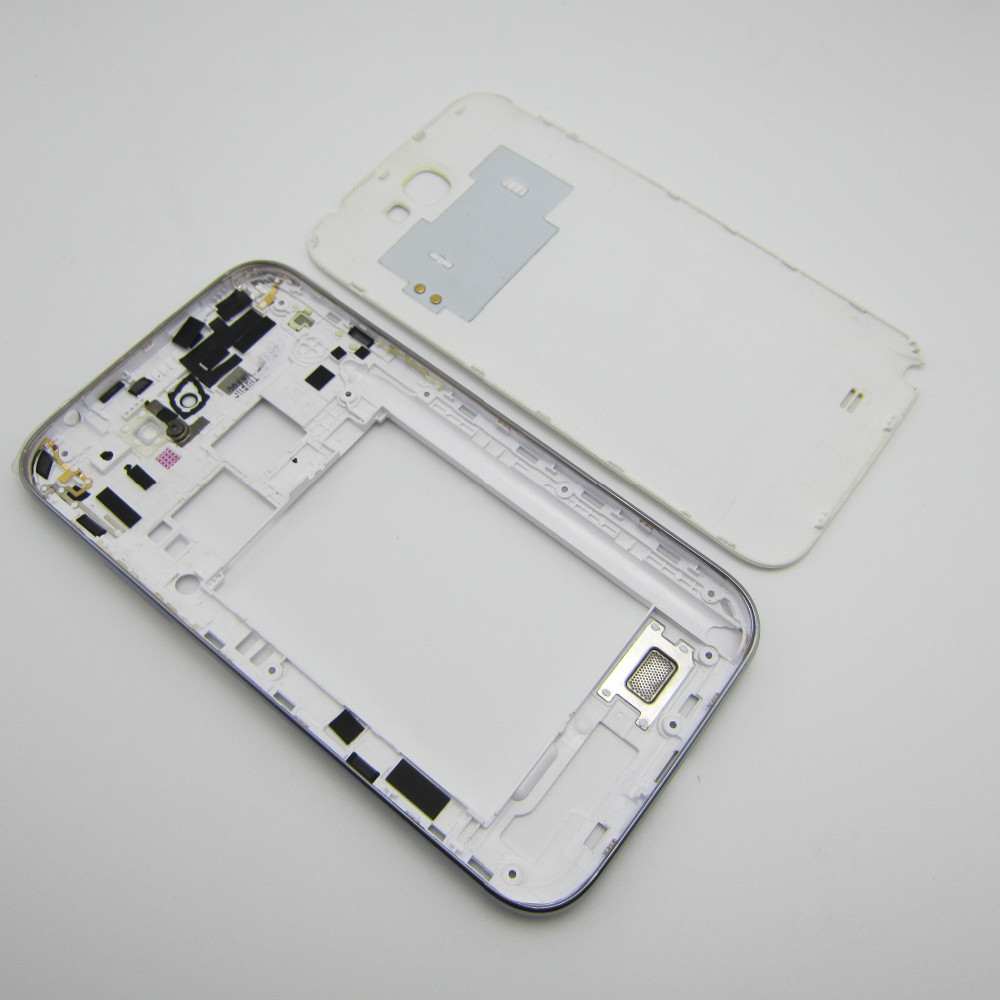 Black/White Full Housing Repair Parts Middle Frame Bezel & Battery Door Cove Back Case For Samsung Galaxy Note 2 II N7100