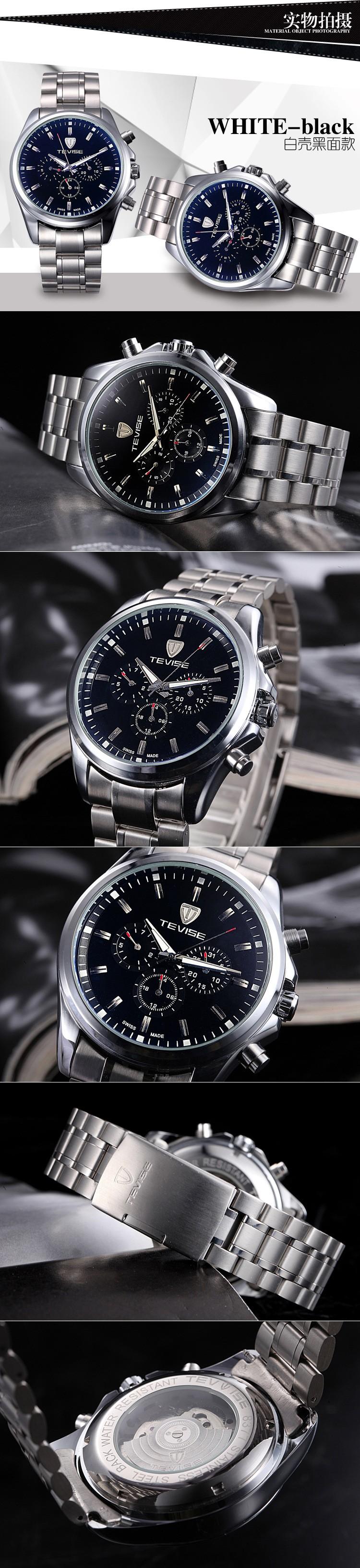 Роскошные Шесть-контактный многофункциональный Мужские Часы Top Brand автоматические механические Часы мужчин Случайные Часы relogio masculino