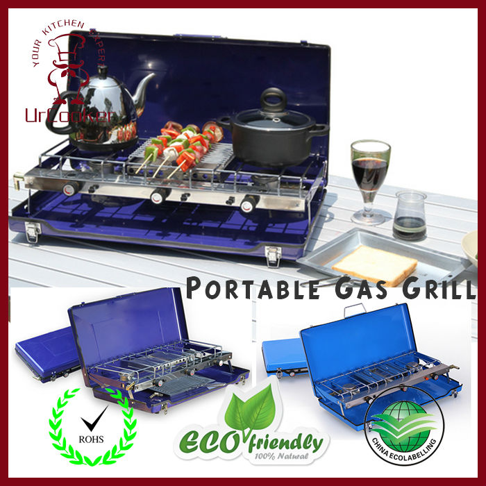 1 Set Portable Tabletop Gas Grill Outdoor camping gas stove camping equipment DHL Free shipping(China (Mainland))