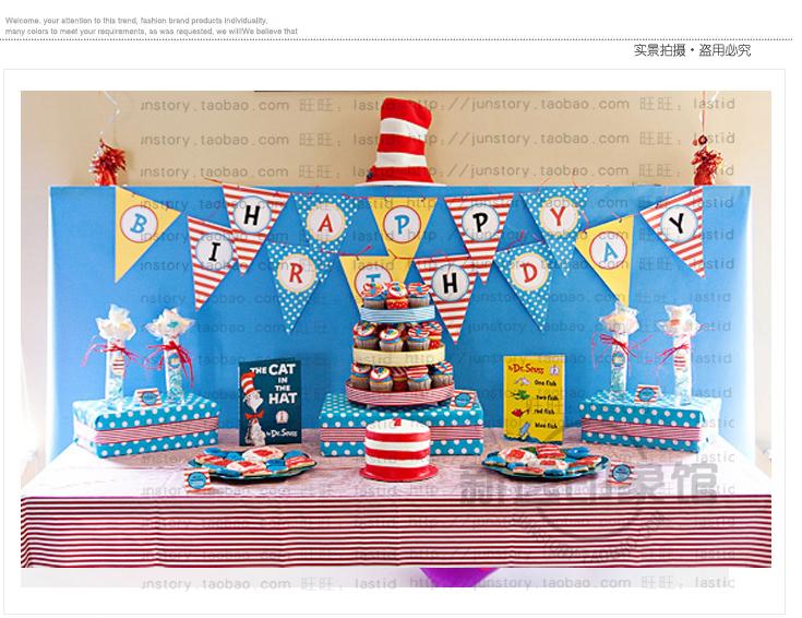 blue happy birthday banner