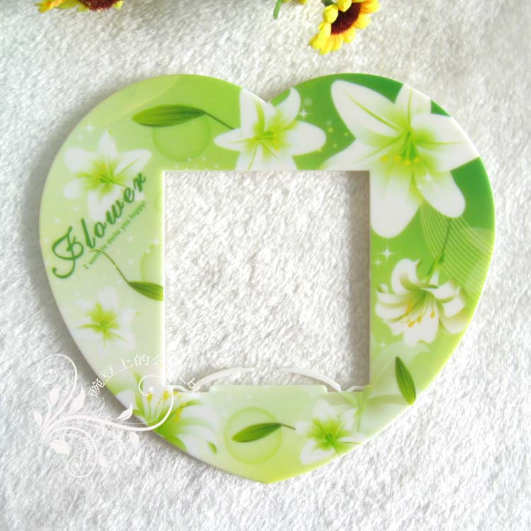 Fresh lily switch stickers set cartoon acrylic plastic wall socket paste disposable - Warmly Family store